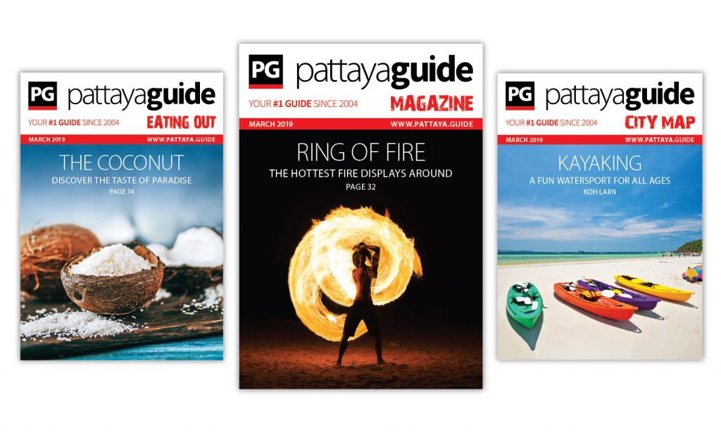 Pattaya Guide Covers March 2019