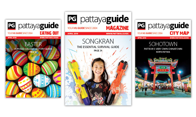Pattaya Guide Covers April 2019