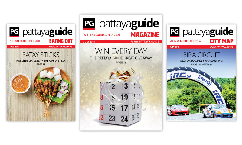 Pattaya Guide Covers July 2019