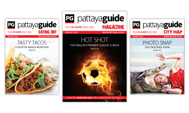 Pattaya Guide Covers August 2019